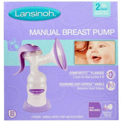Lansinoh, 手動母乳ポンプ、 手動母乳ポンプ1個と付属品