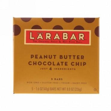 Larabar, The Original Fruit & Nut Food Bar, Peanut Butter Chocolate Chip, 5 Bars, 1.6 oz (45 g) Each