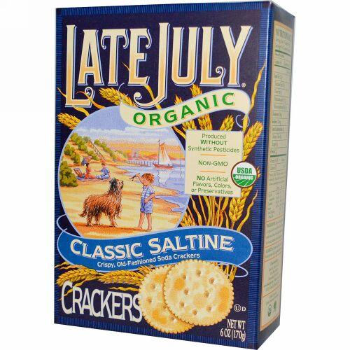 Late July, オーガニッククラシックサルティンクラッカー(塩味のクラッカー), 6オンス (170 g) (Discontinued Item)