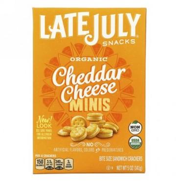 Late July, オーガニック ミニ一口サイズ サンドクラッカー, チェダーチーズ, 5 oz (142 g)
