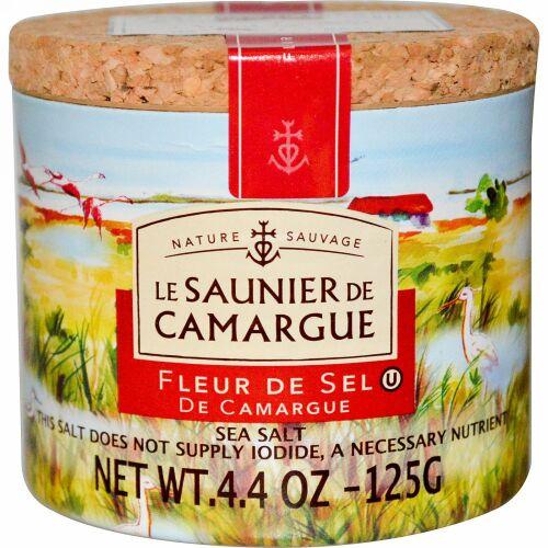 Le Saunier de Camargue, フルール・ド・セル, 海塩, 4.4オンス (125 g) (Discontinued Item)