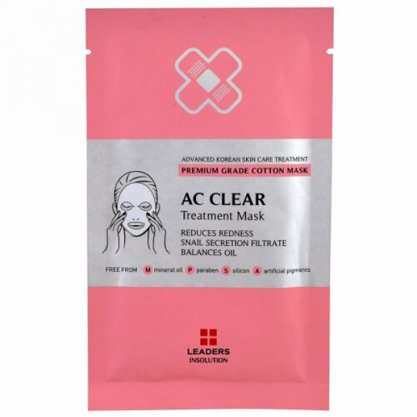 Leaders, AC Clear Treatment Mask, 1 Sheet, 25 ml (Discontinued Item)