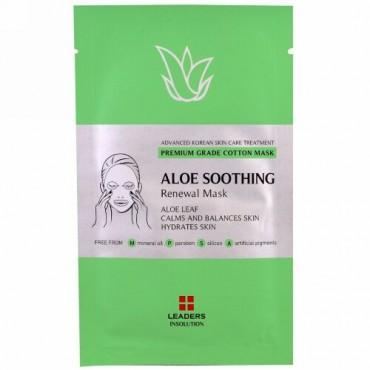 Leaders, Aloe Soothing Renewal Mask, 1 Sheet, 25 ml