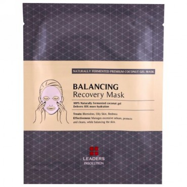 Leaders, Coconut Gel Balancing Recovery Mask, 1 Sheet, 30 ml (Discontinued Item)