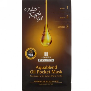 Leaders, Insolution, Aquablend Oil Pocket Mask, Nourishing, 1 Sheet, 27 ml (Discontinued Item)