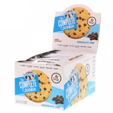 Lenny & Larry's, The COMPLETE Cookie, Chocolate Chip, 12 Cookies, 2 oz (57 g) Each