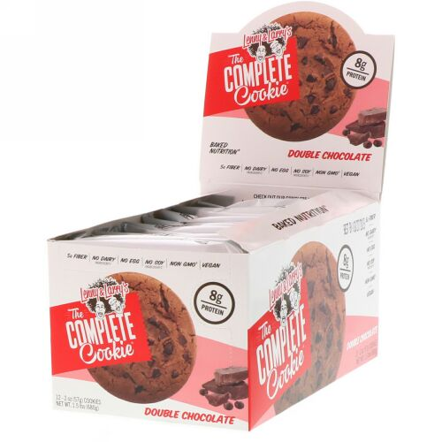 Lenny & Larry's, The COMPLETE Cookie, Double Chocolate, 12 Cookies, 2 oz (57 g) Each