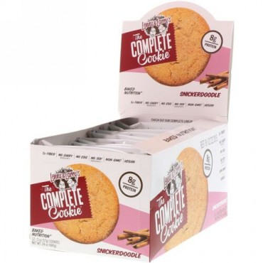 Lenny & Larry's, The COMPLETE Cookie, Snickerdoodle, 12 Cookies, 2 oz (57 g) Each