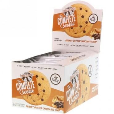 Lenny & Larry's, コンプリートクッキー、ピーナッツバター・チョコチップ、12枚、各2 oz (57 g) (Discontinued Item)