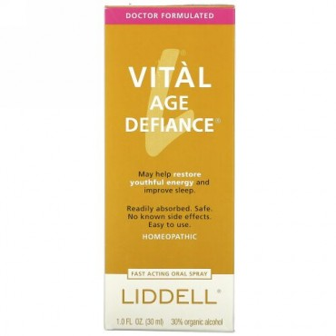 Liddell, バイタル・エイジディファイアンス、オーラルスプレー、1.0 液オンス(30 ml)