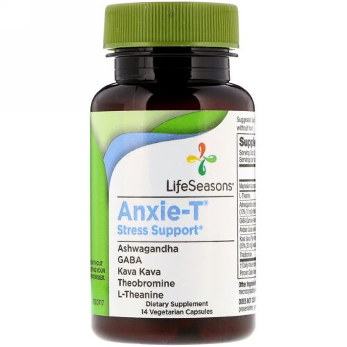 LifeSeasons, Anxie-T Stress Support, 14 Vegetarian Capsules (Discontinued Item)