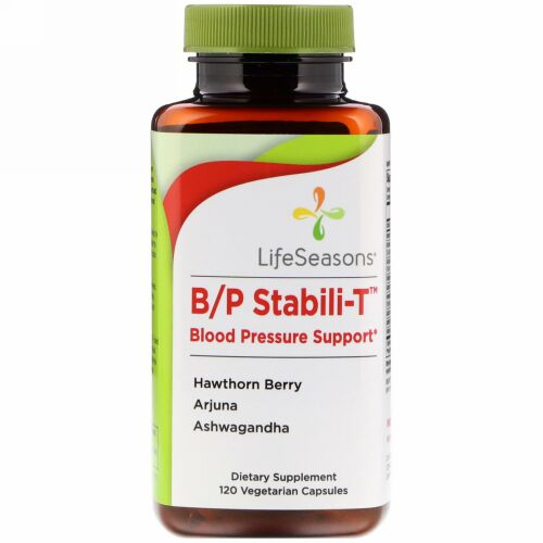 LifeSeasons, B/P Stabili-T 血圧サポート、植物性カプセル120粒