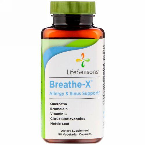 LifeSeasons, Breathe-X, Allergy & Sinus Support, 90 Vegetarian Capsules