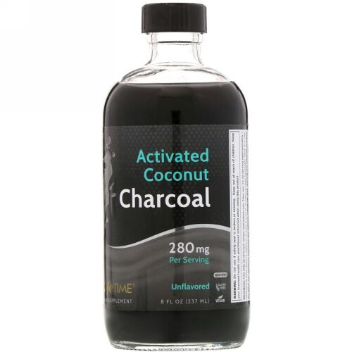 LifeTime Vitamins, Activated Coconut Charcoal, Unflavored, 280 mg, 8 fl oz (237 ml) (Discontinued Item)
