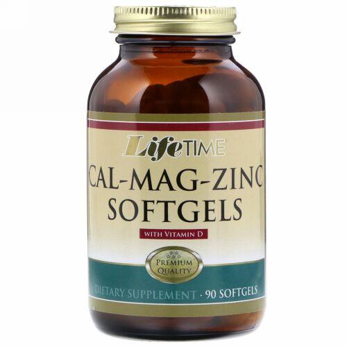 LifeTime Vitamins, Cal-Mag-Zinc With Vitamin D, 90 Softgels (Discontinued Item)