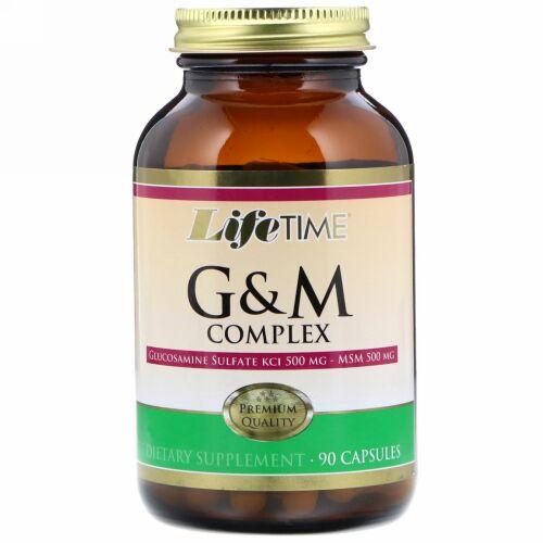 LifeTime Vitamins, Glucosamine & MSM Complex, 90 Capsules (Discontinued Item)