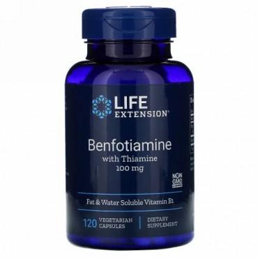 Life Extension, チアミン配合ベンフォチアミン、100mg、ベジカプセル120粒
