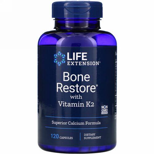 Life Extension, Bone Restore(ボーンリストア)ビタミンK2配合、120粒