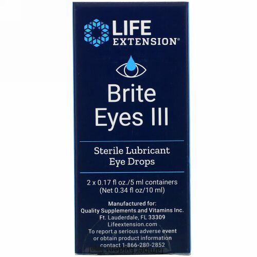 Life Extension, ブライトアイズスリー、2本、各5ml(0.17液量オンス)