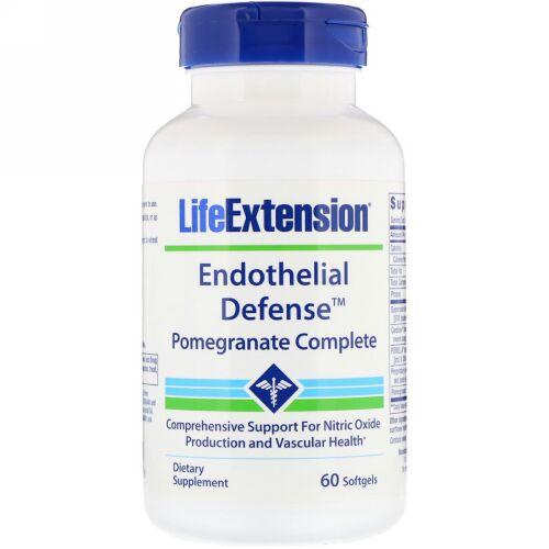 Life Extension, 内皮ディフェンス、ザクロコンプリート、60ソフトジェル (Discontinued Item)