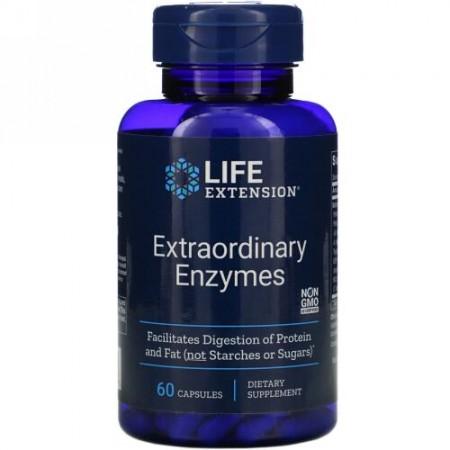 Life Extension, エクストラオーディナリーエンザイム、 60カプセル