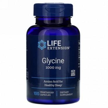 Life Extension, グリシン、1,000 mg、100ベジタリアンカプセル