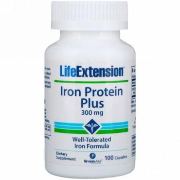 Life Extension, アイロン・プロテイン・プラス、 300 mg、カプセル100錠