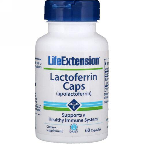 Life Extension, ラクトフェリンカプセル、60粒