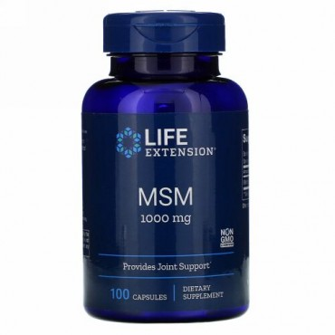 Life Extension, MSM, 1,000 mg, 100 Capsules