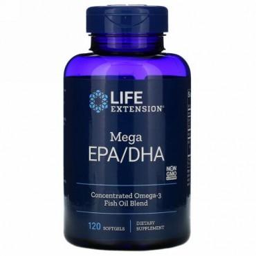 Life Extension, メガEPA/DHA、ソフトジェル120粒
