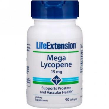 Life Extension, メガ リコペン、 15 mg、 90ソフトジェル