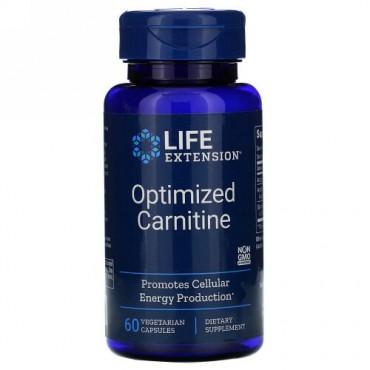 Life Extension, 最適化カルニチン、植物性カプセル60錠