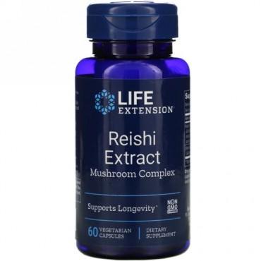 Life Extension, レイシ エキス マッシュルーム コンプレックス、ベジタリアンカプセル60個