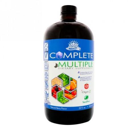Liquid Health, コンプリートマルチプル、液体マルチビタミンサプリメント、天然ベリー味、32 fl oz (946 ml) (Discontinued Item)