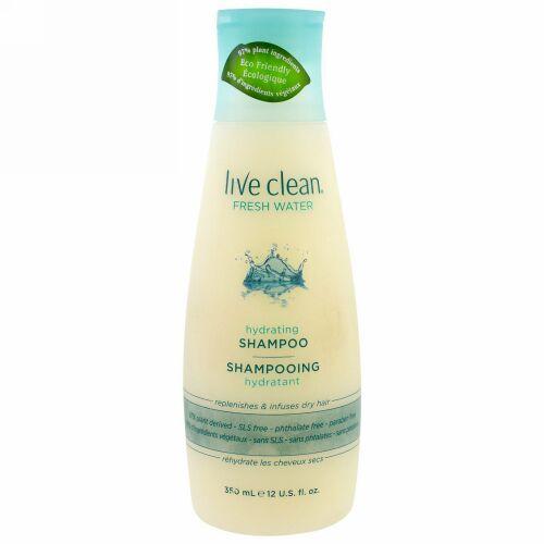 Live Clean, ハイドレーティングシャンプー、フレッシュウォーター、12 fl oz (350 ml)