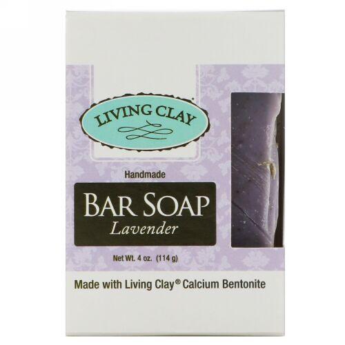 Living Clay, Handmade Bar Soap, Lavender, 4 oz (114 g) (Discontinued Item)