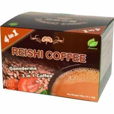 Longreen, 4 in 1レイシコーヒー, 10 袋, 各(18 g)