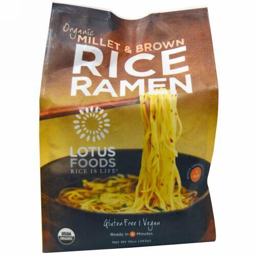 Lotus Foods, オーガニック雑穀&玄米ラーメン・4袋・283g (Discontinued Item)