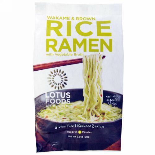 Lotus Foods, ワカメ & ブラウンライスラーメン、野菜スープ、 10 パック、 各2.8 oz (80 g) (Discontinued Item)