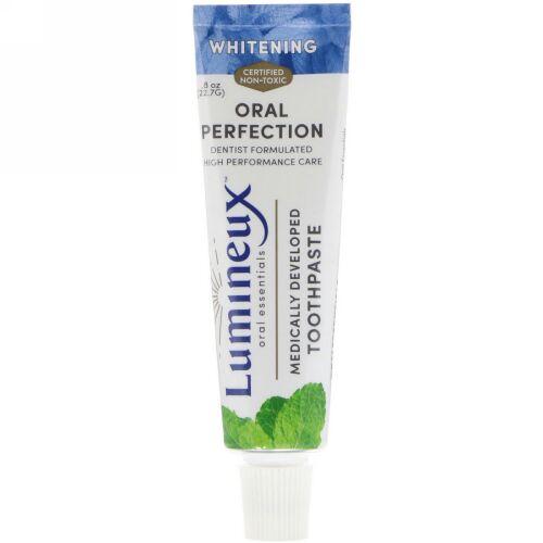 Lumineux Oral Essentials, 亜鉛入り歯磨き粉、ホワイトニング、.8 oz (22.7 g) (Discontinued Item)