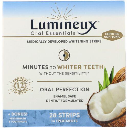 Lumineux Oral Essentials, ホワイトニングストリップ、28本 +ボーナスのマウスウォッシュ・歯磨き、28本 (Discontinued Item)