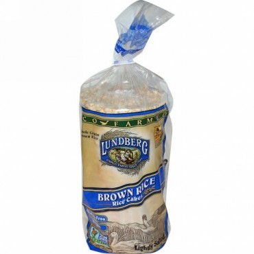Lundberg, ブラウンライス ライスケーキ, うす塩味, 8.5オンス (241 g) (Discontinued Item)