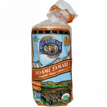 Lundberg, オーガニック ライスケーキ、セサミ タマリ、9 oz (255 g) (Discontinued Item)