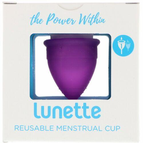 Lunette, 再利用可能な月経カップ、モデル1、軽い日・普通の日用、バイオレット、1個