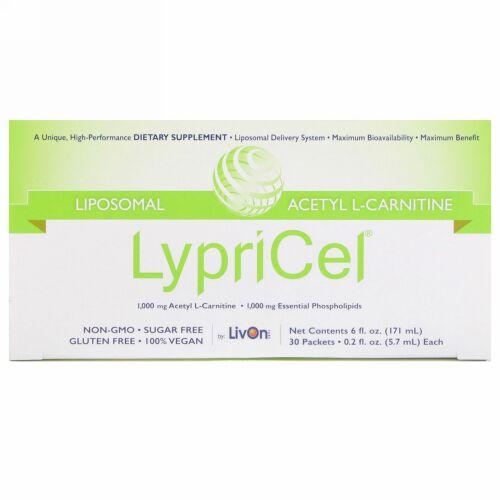 LypriCel, リボゾーム、アセチル L-カルニチン、30包、各0.2液量オンス (5.7 ml) (Discontinued Item)