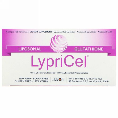 LypriCel, リポソーム型グルタチオンGSH、30包、0.2液体オンス(5.4 ml) (Discontinued Item)