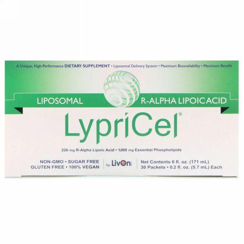 LypriCel, リポソームR-ALA、 30包、 各0.2液量オンス (5.7 ml) (Discontinued Item)