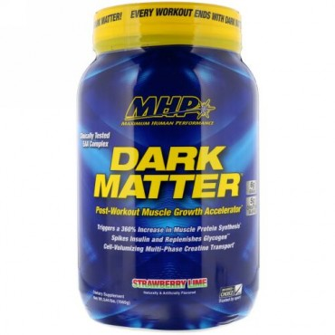 MHP, Dark Matter, Post-Workout Muscle Growth Accelerator, Strawberry Lime , 3.44 lbs (1560 g) (Discontinued Item)