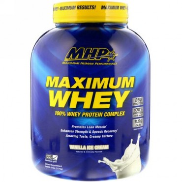 MHP, Maximum Whey, Vanilla Ice Cream, 5 lbs (2270 g) (Discontinued Item)