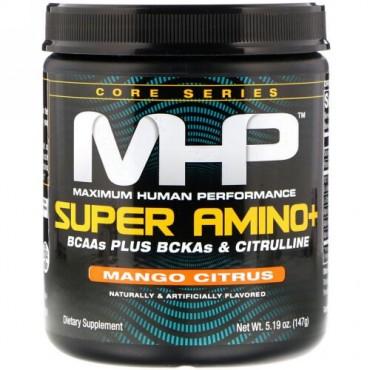 MHP, スーパーアミノ+、マンゴーシトラス、5.19 oz (147 g) (Discontinued Item)